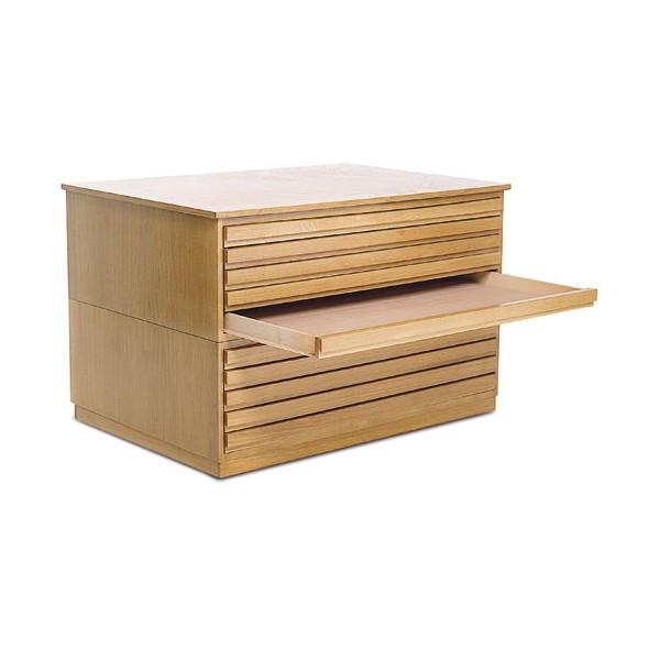 Meuble tiroirs en bois museodirect le portail - Meuble a tiroirs en bois ...
