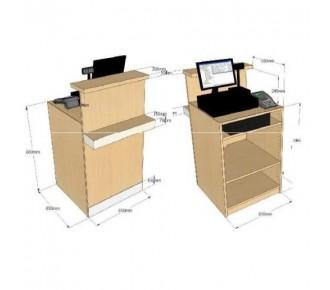 Comptoir caisse avec tablette de discr tion museodirect - Comptoir caisse pour institut de beaute ...