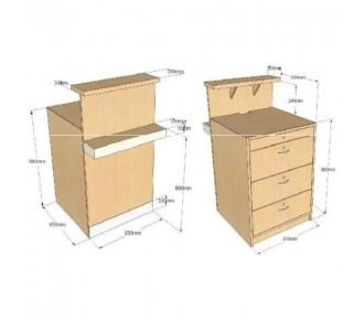 comptoir tiroirs avec tablette de discr tion museodirect le portail internet de la. Black Bedroom Furniture Sets. Home Design Ideas
