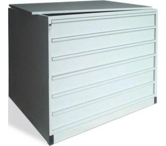 meuble 6 tiroirs h 15 cm museodirect le portail internet de la mus ologistique. Black Bedroom Furniture Sets. Home Design Ideas
